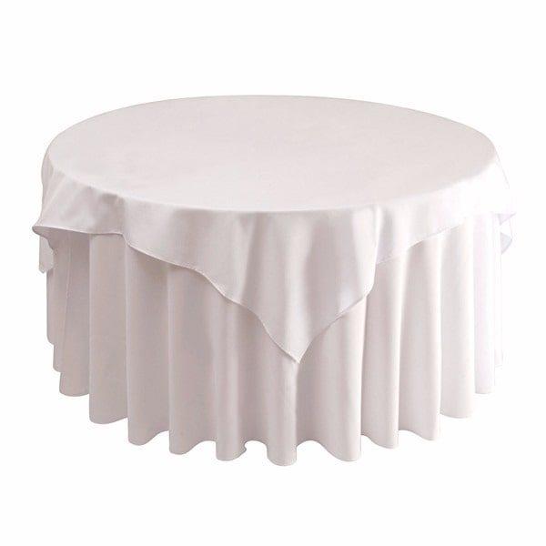 5bc1a4071 Toalha de mesa redonda Oxford branca Ø 1