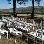 cadeiras branca de ferro para alugar