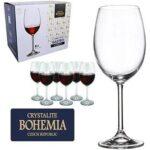 Taça De Cristal Para Vinho Tinto 580 ml Boemia