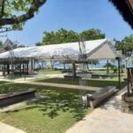 Montagem de tendas e coberturas no litoral paulista