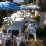 Locação de mesas e cadeiras de plastico